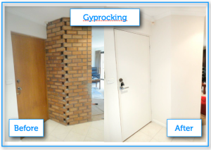 A_ Gyprock doors before after