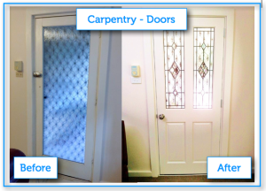 A_Carpentry Doors before after