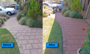 Before After pressure cleaning
