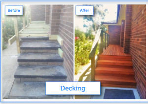 Decking before after